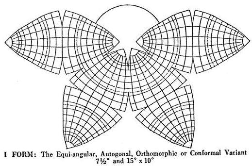 Cahill Conformal curvilinear graticule