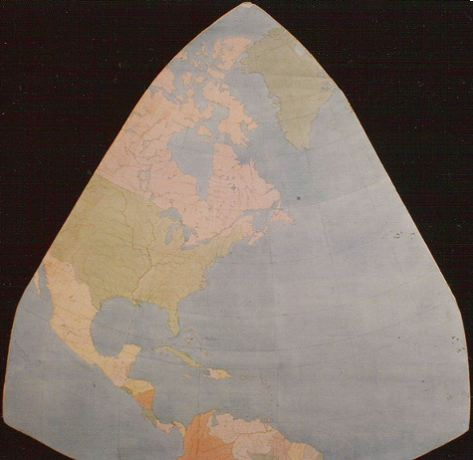 Cahill world map octant, color; 2 of 8