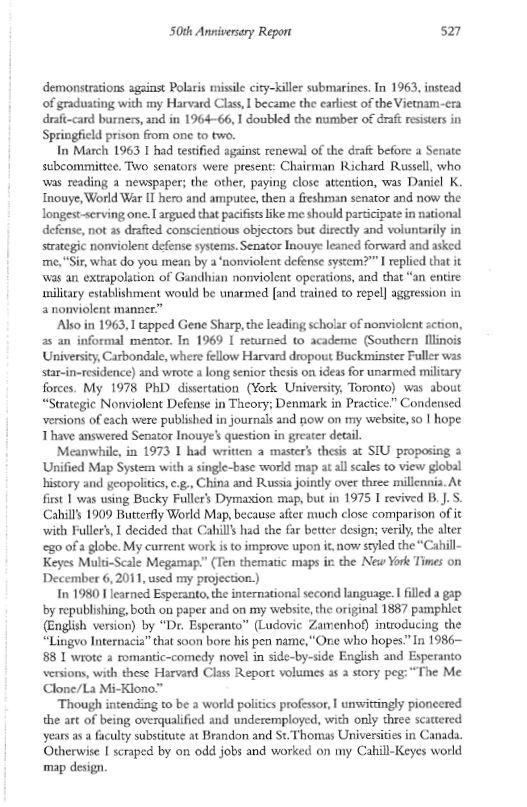 Gene Keyes, p.2,               Harvard Class of 1963, 50th Anniversary Report